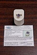 Blue Star Sapphire 8.30 CT Cabochon Cut and Round Diamonds w/Appraisal