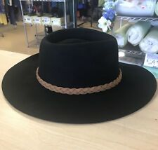 Merona by Target Women's One-Size Fits Most Black Wool Floppy Fedora Hat - NWT!