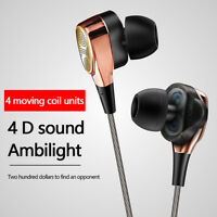 HIFI Earphone Dual Driver Headset Sport Stereo Headphone Super Bass Music Earbud