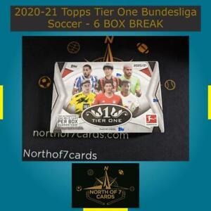 Leon Bailey - 2020-21 Topps Tier One Bundesliga Soccer - 6 BOX BREAK