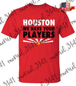 Men's Houston We Have Your Players Arizona Cardinals 2021 Logo Red T-shirt M-3XL