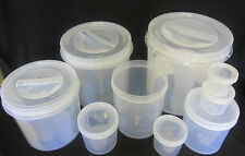 Set of 9 Kitchen-King Wide Mouthed Storage Container Jars with Lids