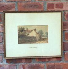 Original Anthony Vandyke Copley Fielding Watercolor. Cottage Landscape