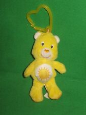"FUNSHINE CARE BEAR BACKPACK CLIP- 4"" Yellow Care Bear"