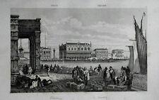 ITALIA:VENEZIA, RIVA DEGLI SCHIAVONI-PALAZZO DUCALE. LEMAITRE.ITALIA.Artaud.1835
