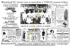 BRENTFORD -  REPRO SEASON TICKET ADVERT POSTCARDS - SET # 1 (3 CARDS)