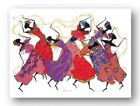 Lead Dancer In Purple Gown Augusta Asberry African American Art Print 36x24