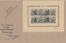 PORTUGAL: 1945 Portuguese Castles miniature sheet SG MS996a  used on cover