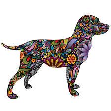 Multi Coloured Labrador, Diecut vinyl adhesive sticker decal  135x110mm