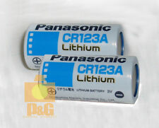 NEW PANASONIC CR123A Lithium Batteries 3V Battery 2pcs Free & Fast Ship