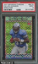 2007 Bowman Chrome Xfractor Calvin Johnson Detroit Lions RC Rookie PSA 9 MINT