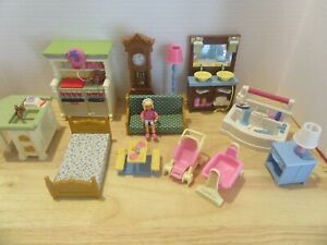 Fisher Price Loving Family Dollhouse Furniture 13 Pcs Kitchen Bathroom Baby Doll