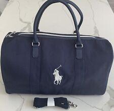 RALPH LAUREN Fragrances blue duffle bag gym weekender overnight carry-on New