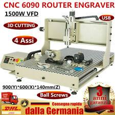 4 Assi 6090 CNC Router Engraver Macchina Incisione Metallo Fresatrice 1500W USB!