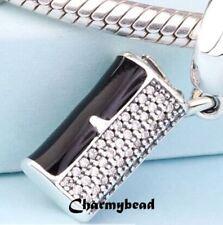 New❤ Genuine  Pandora Silver/CZ/ENAMEL❤Clutch Bag Pendant ❤ 792155CZ