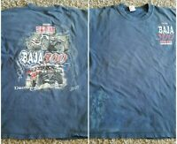 Vintage Tecate Baja 500 Score International Racing T shirt Men XL Blue Graphic
