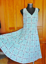 ~ JONES NEW YORK ~ Mosaic Printed 100% Cotton size 14 XL Flared DRESS