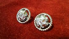 "Silver Tone Very Classy! 7/8"" Vintage Sarah Coventry Clip on Earrings"