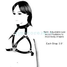 Women PU Leather Open Cup Cupless Chest Bra Body Harness Straps Bondage Belt NEW