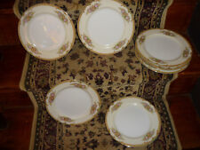 SET OF11  HAND PNTD LUNCHEON/ DINNER PLATES / DIAMOND CHINA/ JAPAN/ PRE 1938