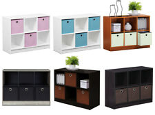 6 Cube Wooden Storage Bookcase Shelving Display Unit