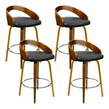 20 off With Pspr20 Artiss Set of 4 Walnut Wood Bar Stools - Black and Brown