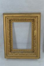 early period rectangle picture frame original 15x12x2 gold deep well 19th 1800