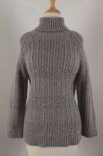 NEW Ralph Lauren Womens Sweater Sz L Large Alpaca NWT Gray Wool Knit Turtleneck