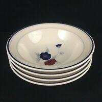 Set of 4 VTG  Soup Cereal Bowls Noritake Keltcraft HARLEQUIN Floral 9121 Ireland