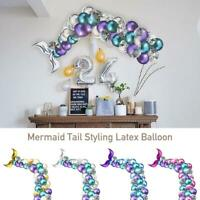 Mermaid Balloon Chain Set Birthday Tail Balloon Styling 42PCS Party Latex De for