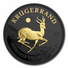 1 oz Krügerrand 2017 50 Jahre Ruthenium Gilded Edition mit Zertifikat 999 Silber