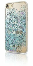 """Guess Hard Case """"all I Do Is Shine"""" Glitter Blue - iPhone 7"""