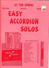 At the Spring Joseph Divisek 1956 Vintage Accordion Sheet Music