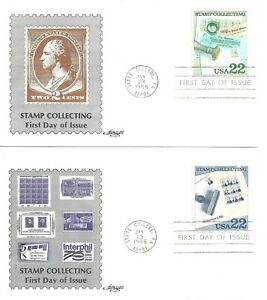 1986 STAMP COLLECTING COLOR OMITTED ERROR ON ARTMASTER FDC #2201b