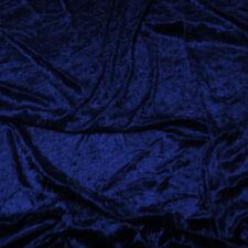 "Royal Blue Premium Crushed Velvet Fabric Craft Dress Stretch Material 59"" Width"