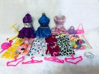 27 items 8 PCS CLOTHES + 10pair shoes +4 PCS  hangers + 2 bags+3 for 11.5in DoLL