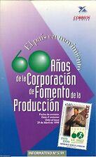 Chile 1999 Brochure 60 años Corporacion de Fomento de la Produccion CORFO