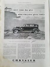 1933 Chrysler Royal Eight sedan car $995 vintage ad