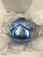 Bronner's Christmas Tree Ornament Frosted Blue Nativity 2017