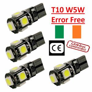 4x Canbus LED Error Free T10 6000k HID White W5W Bulbs Side Parking Lights 12V