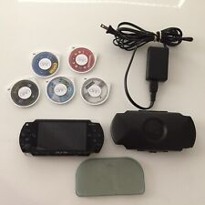 Sony PSP 1001 Black Playstation Portable Handheld Gaming system W/ Games