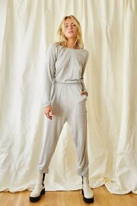 NEW FREE PEOPLE WE THE FREE Sz XL LUCCA ONE PIECE JUMPSUIT JUMPER IN GRAY
