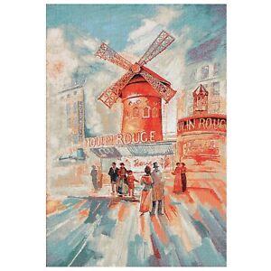 "Moulin Rouge Paris, Gobelin Tapestry Wall Art. 28x20"""