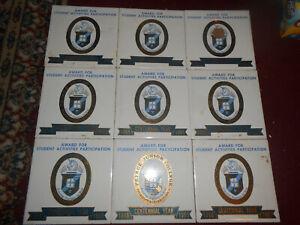 "1965 9 Peirce Junior College Philadelphia 100th Yr 6"" Tile Trivets Hot Plates NR"