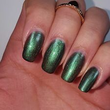 EMERALD GEM DARK GREEN Shiny Nail Polish 15ml indie 5-free handmade cruelty-free