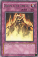 3 x Yu-Gi-Oh Card - PTDN-EN077 - OFFERING TO THE SNAKE DEITY (rare) - NM/Mint