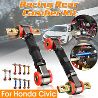 2x Adjustable Rear Upper Suspension Camber Control Arms for Acura Honda Civic
