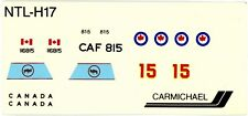 1:72 SCALE CARMICHAEL MODEL KIT DECAL SHEET RCAF ROYAL CANADIAN AIR FORCE CF-5