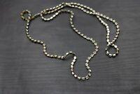"Vintage Clear Long Rhinestone Strand Statement Bridal Wedding Necklace 36"" A18"