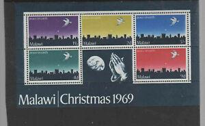 MALAWI #126a  1969  CHRISTMAS    MINT  VF NH  O.G  S/S